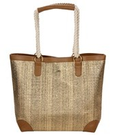 Sun N Sand Coastal Glimmer Metallic Shoulder Tote Beach Bag