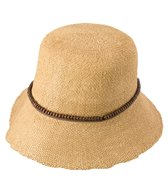 Sun N Sand Bryn Crochet Beaded Trim Straw Hat