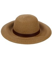 Sun N Sand Kalliste Faux Leather Trim Straw Hat