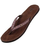 Reef Girls' Leather Gypsyfree Flip Flop