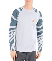 Quiksilver Waterman's Pacific Long Sleeve Relaxed Fit Bamboo Mesh Surf Shirt