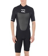 Billabong Men's Foil 202 Back Zip Short Sleeve Springsuit Wetsuit