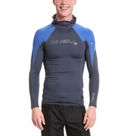 O'Neill Men's O'Zone Long Sleeve Crew Rashguard W/Hood