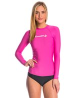 O'Neill Women's Basic Skins Long Sleeve Crew Rashguard