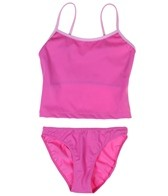 Tidepools Girls' Solid Tankini Set (7-14)