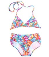 Tidepools Girls' Aloha Bikini Hipster Set (7-14)