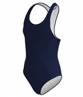 Sporti 4-6X Solid Wide Strap Swimsuit