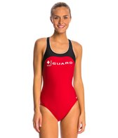 Nike Swim LifeLifeguard Power Back Tank One Piece Swimsuit