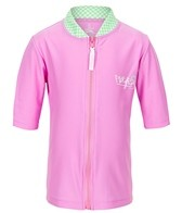 Platypus Girls' Lotus S/S Zip Rashguard (2-8)