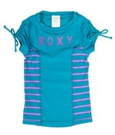 Roxy Girls' Running Wild Wave Rush S/S Rashguard (7-16)