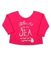 Roxy Girls' Take Me To The Sea Crop Tee (7-16)
