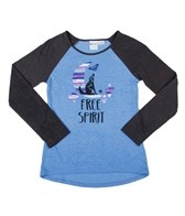 Roxy Girls' Free Spirit L/S Baseball Tee (7-16)