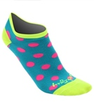 Sockguy Women's No Show Pink Dots Sock