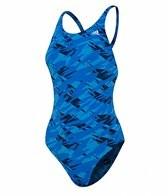 Adidas Women's Impact Camo Cross Back One Piece Swimsuit