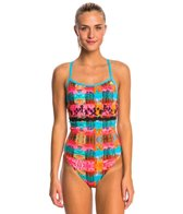 Adidas Women's Scenic Split Back One Piece Swimsuit