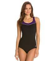 Speedo High Neck Piped One Piece
