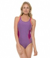 Speedo Heathered Muscleback One Piece Swimsuit