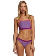 Speedo Heathered Clip Back Two Piece Swimsuit Set