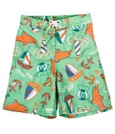 Sunshine Zone Boys' Elastic Boardshort W/ Liner (4-7)
