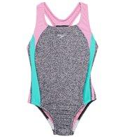 Speedo Girls' Solid Infinity Splice One Piece Swimsuit (Big Kid)