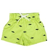 Flapdoodles Boys' Schiffli Shark Trunk (4-7)