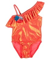 Flapdoodles Girls' Sparkle One Piece (2T-4T)