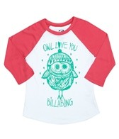 Billabong Billie Girls From Owl To You L/S Baseball Tee (4-16)