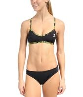 TYR Camo Star Solid Crosscutfit Workout Bikini w/ Printed Binding