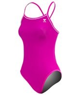 TYR Solid Brites Pink Reversible Diamondfit One Piece Swimsuit