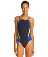 Dolfin Chloroban Color Block DBX Back One Piece Swimsuit