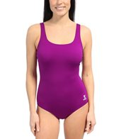 TYR Solid Scoop Neck Controlfit