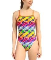 Waterpro Hearts Thin Strap One Piece Swimsuit