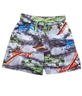 Tiger Joe Boys' Vintage Planes Rider Boardshort (4-8)