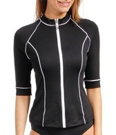 Seafolly Coastline 3/4 Sleeve Zip Rashguard