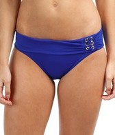 Jag Swimwear Solid Roll Top Retro Hipster Bikini Bottom
