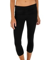 Jala Clothing Asana Gathered Waist Yoga Capris