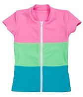 Seafolly Girls Candi Shop Zip Front S/S Rashguard (6-16)