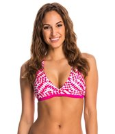 Speedo Geo Tropic/Mini Palm Reversible Racerback Swimsuit Top