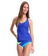 Speedo Shirred Racerback Tankini Swimsuit Top