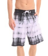 Speedo Men's Dip Dye Plaid E-Board Short