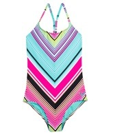 Roxy Girls' Border T-Back One Piece (7-16)