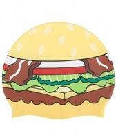 Sporti Hamburger Silicone Swim Cap Jr.