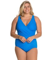 Miraclesuit Plus Size Solid Oceanus One Piece