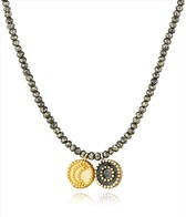 Satya Jewelry Pyrite Celestial Galaxy Necklace