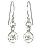 Satya Jewelry Sterling Silver Mini Om Disc Earrings