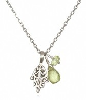 Satya Jewelry Peridot Hamsa Necklace