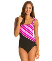 Reebok Stripe It Rich U Back One Piece