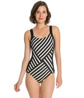 Reebok Synchronize Stripe U Back One Piece