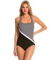 Reebok Aqua Spa Diagonal Cross Back One Piece