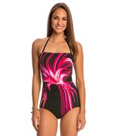 Jantzen Tropical Bliss Party Girl Bandeau One Piece Swimsuit